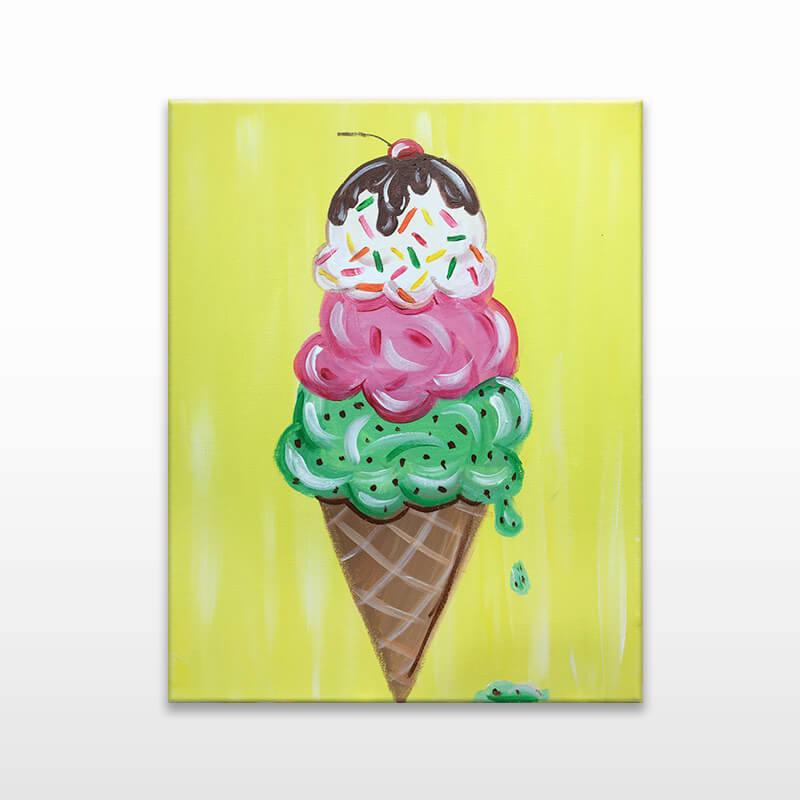 Ice Cream Cone Painting Class