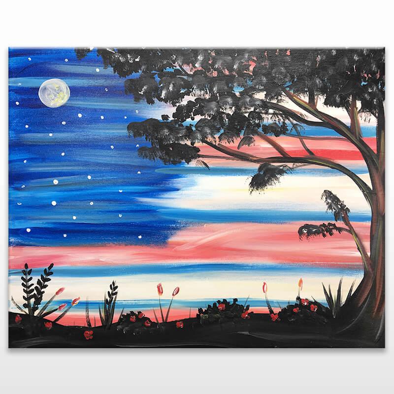 Patriotic Skies Painting Class