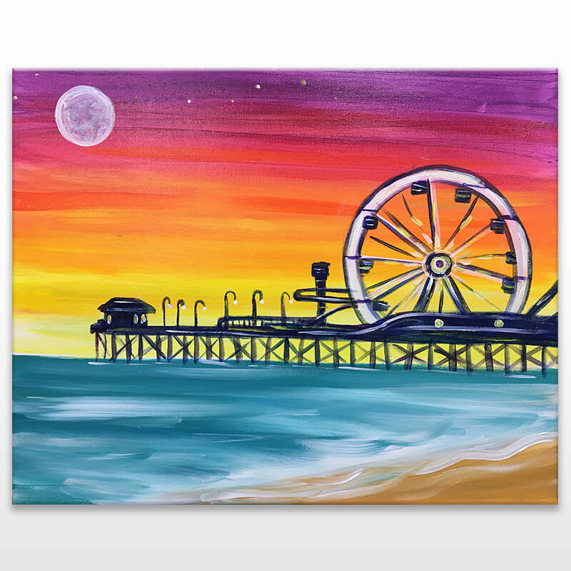 Santa Monica Pier Painting Class