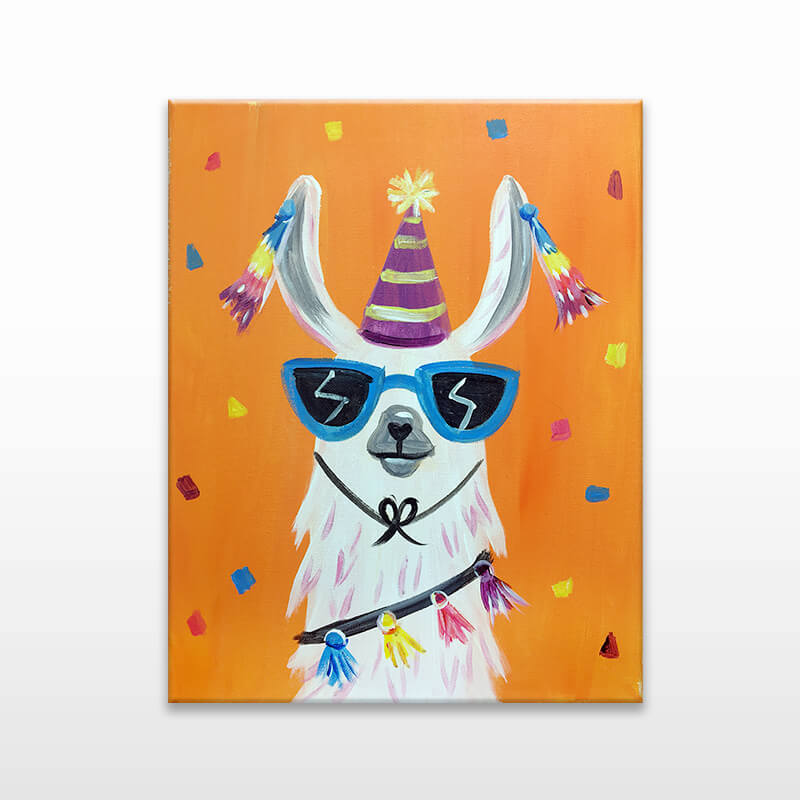 Party Llama Virtual Painting event