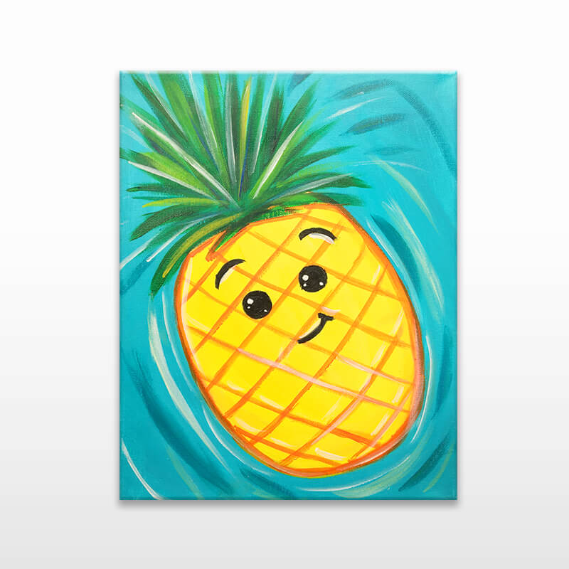 Happy Pineapple Virtual Painting Event