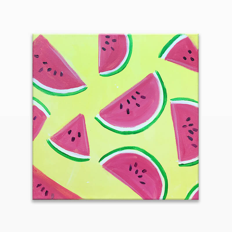 Juicy Watermelon Virtual Painting Event