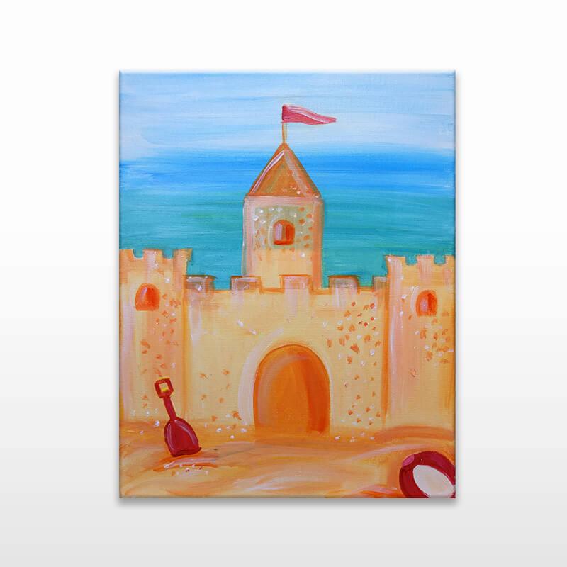 Sand Castle Online Painting Class
