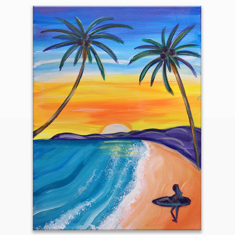 Surfs Up Virtual Painting Event