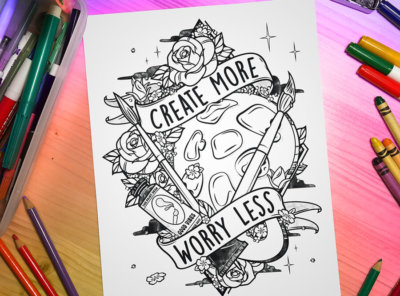 Creat More Worry Less Virtual Coloring Event