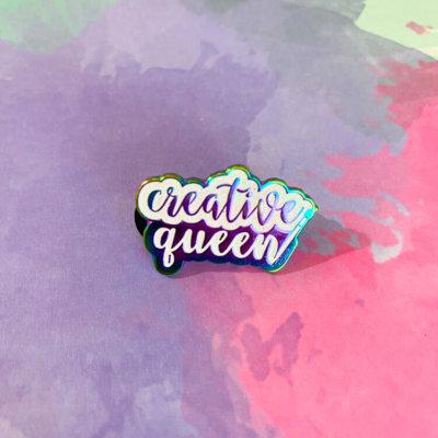 Creative Queen Enamel Pin