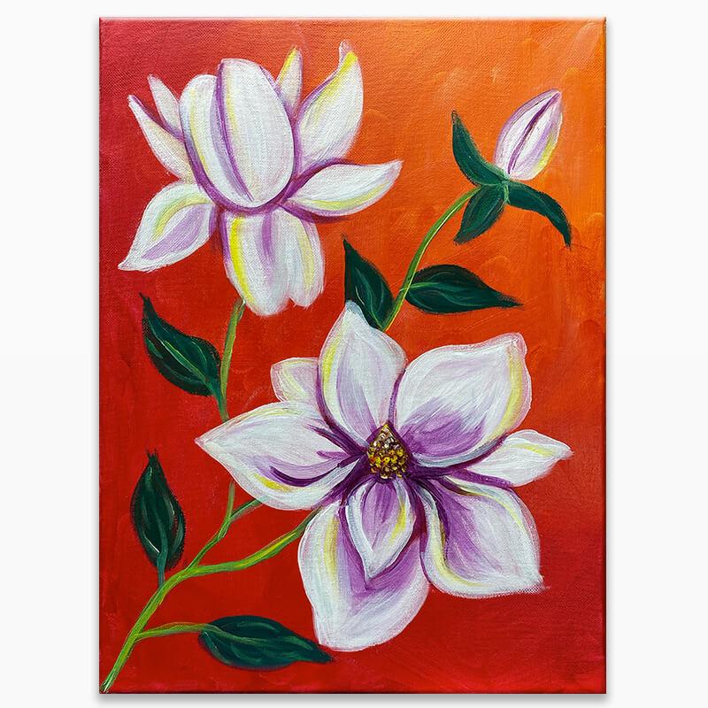 Magnolias Virtual Painting Class