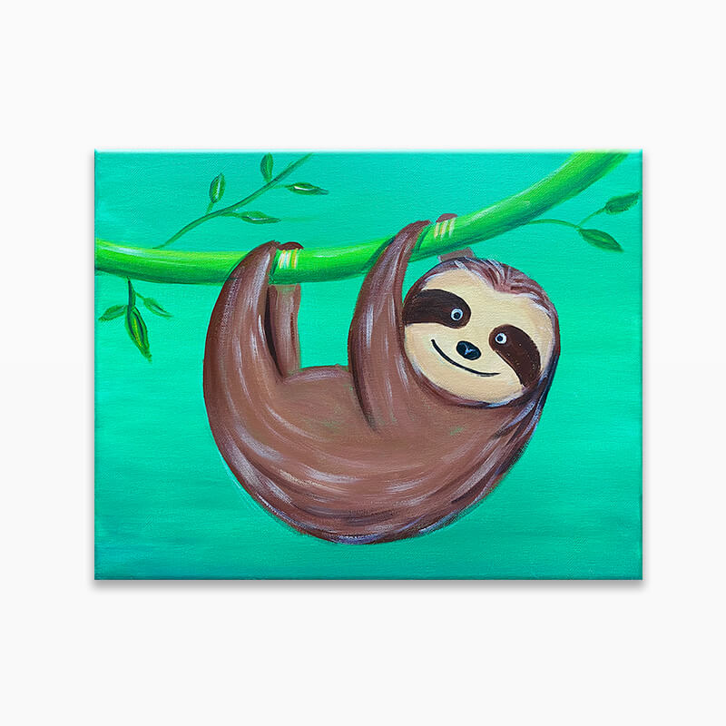 Smiley Sloth Virtual Painting Class