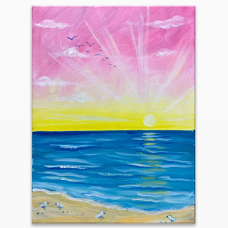 Sunshine Shore Virtual Painting Class