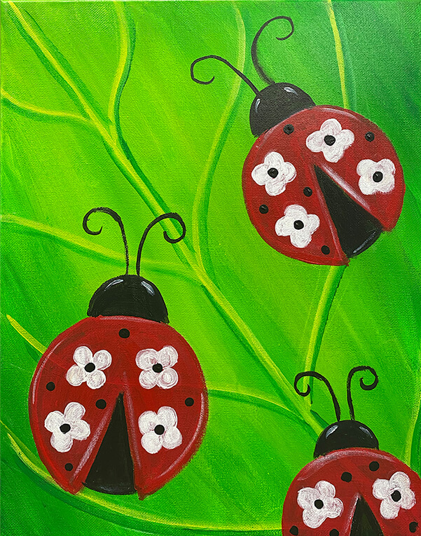 Floral Lady Bug by The Paint Sesh