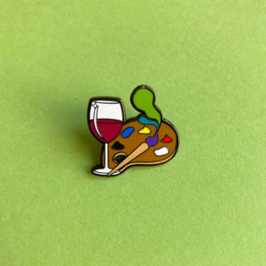Paint and Sip Enamel Pin