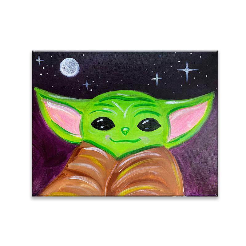 Space Yoda Acrylic Painting Class