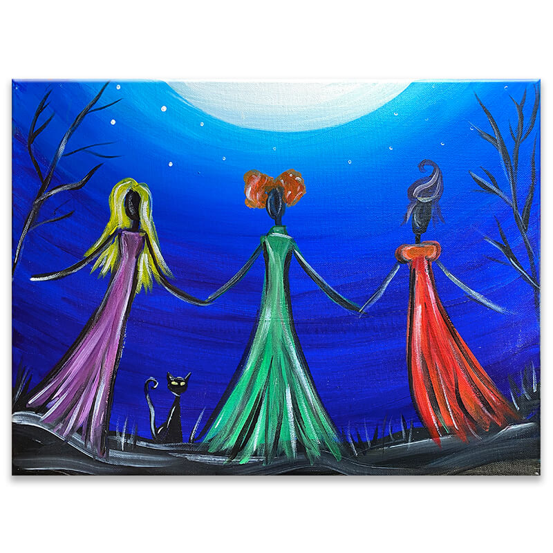 I Put A Spell On You Acrylic Painting