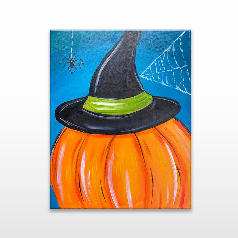Witchy Pumpkin Virtual Painting Class