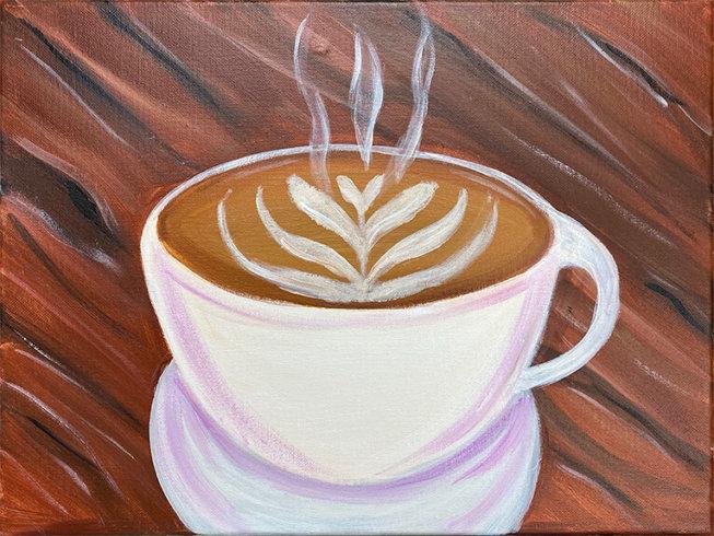 Café Late Acrylic Painting