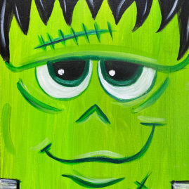 Frankenstein Painting by Chelz Franzer at The Paint Sesh