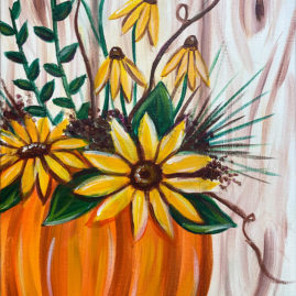 Pumpkin Blooms Painting Party