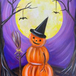 Pumpkinman Acrylic Painting