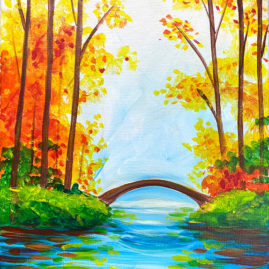 Scenic Season Acrylic Painting by The Paint Sesh