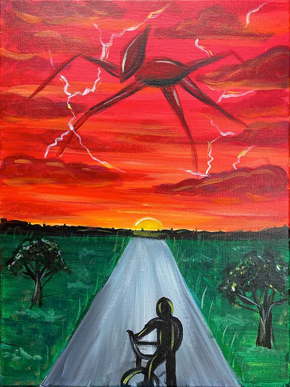 Strange Things Acrylic Painting