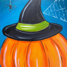 Witchy Pumpkin Acrylic Painting