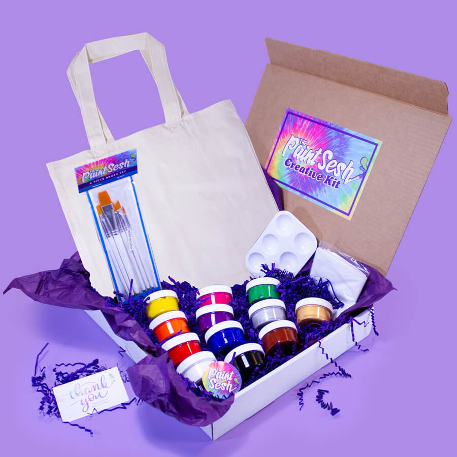 Paint Your Own Tote Bag in a Box