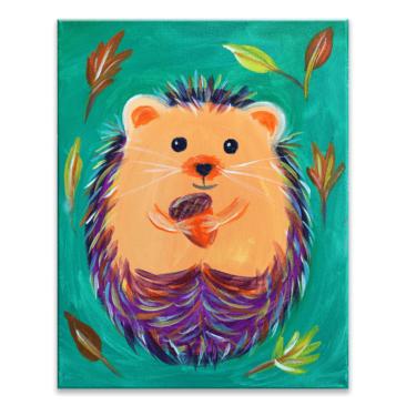 Hedgehug Virtual Painting Class