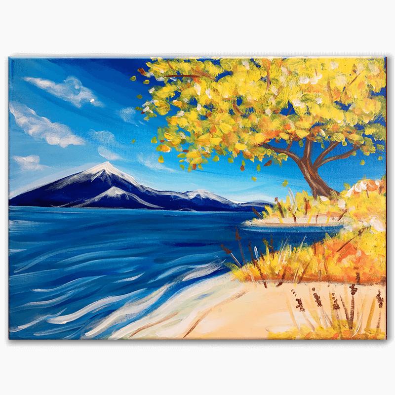 Serene Autumn Virtual Painting Class
