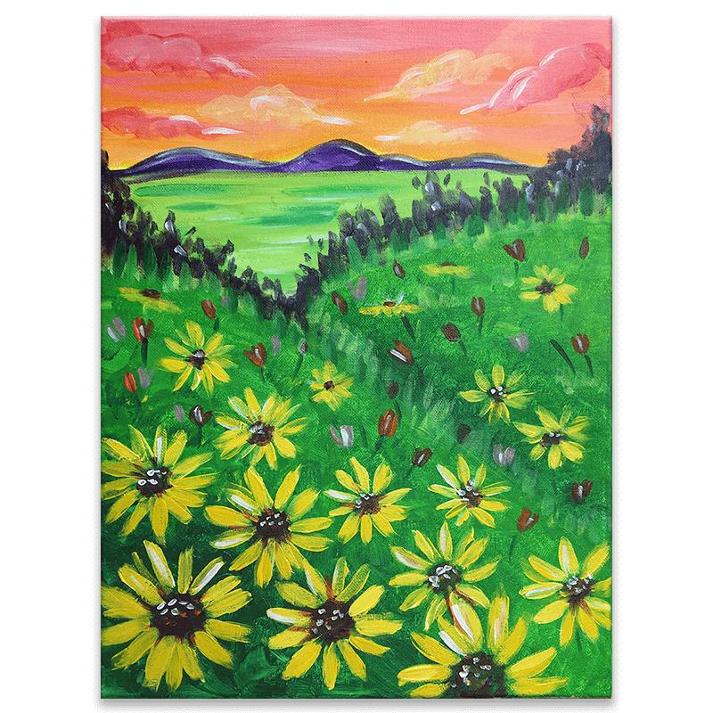 Sunflower Fields Painting Class
