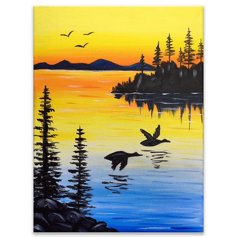 Sunset Flight Painting Class