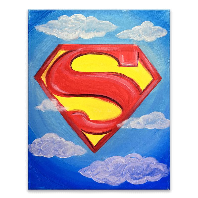 Super Hero Virtual Painting Class