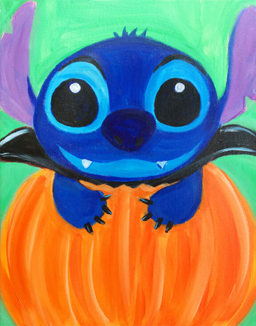 Count Stitchula Halloween Painting Class