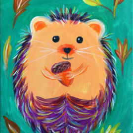 Hedgehug Virtual Painting Class