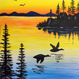 Sunset Flight Painting Class