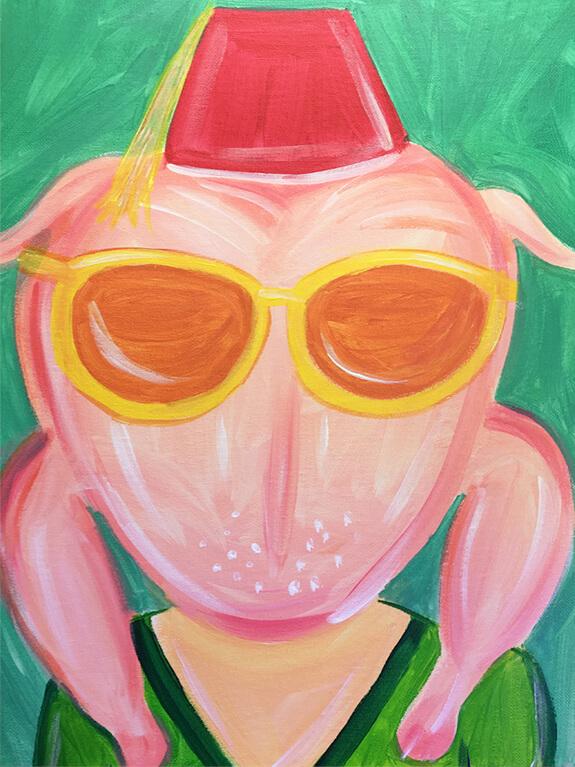 Friendsgiving Virtual Painting Class