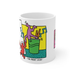 Keith Haring Inspired Paint Sesh Mug 11oz