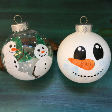 Snowman Ornaments Virtual Painting Class