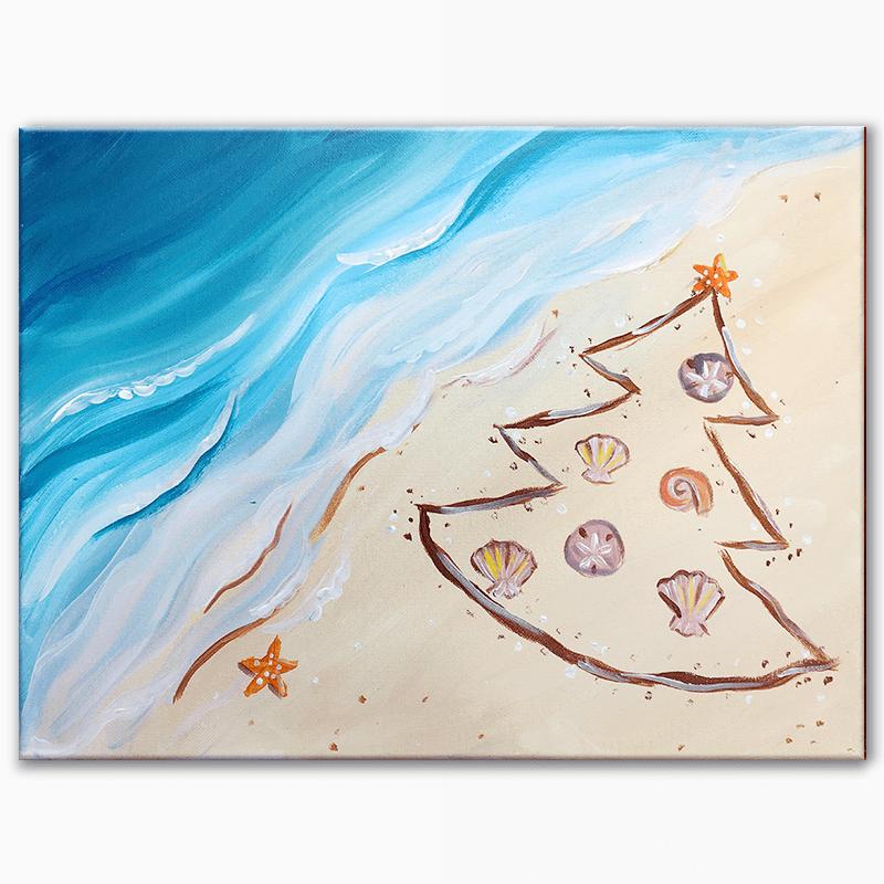 Beachy Christmas Virtual Painting Class