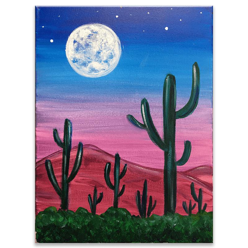 Desert at Dusk Painting Class
