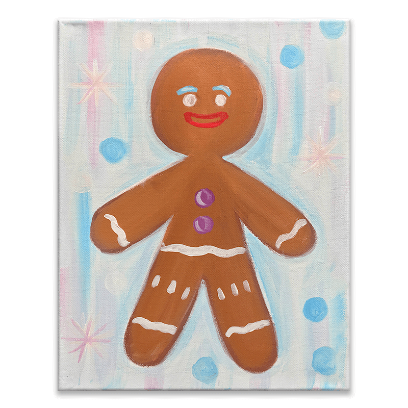 Gingerbread Man Virtual Painting Class