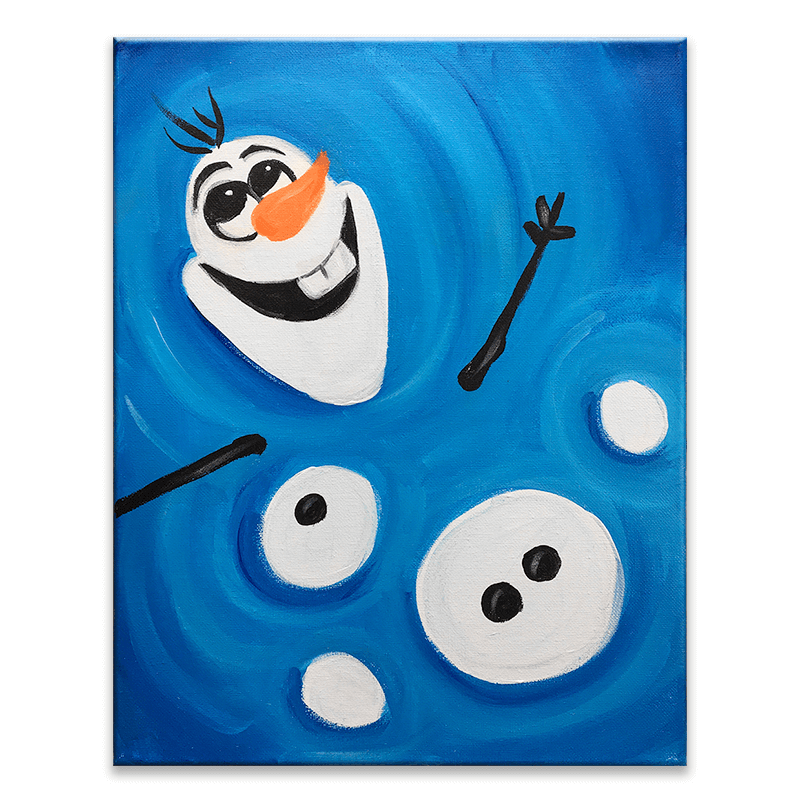 Let it Go - Olaf Virtual Painting Class