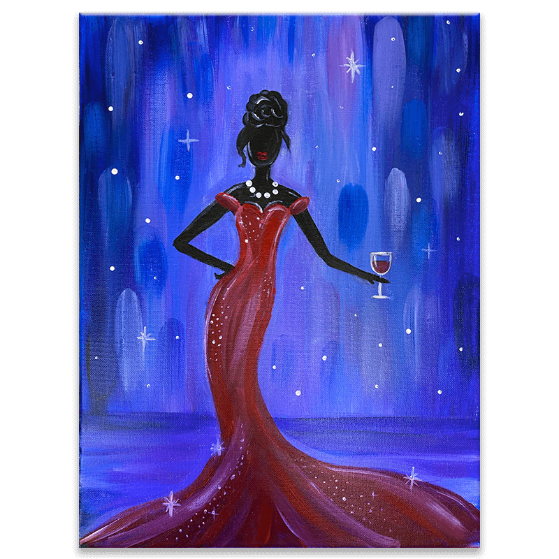 Pretty Woman Virtual Painting Class