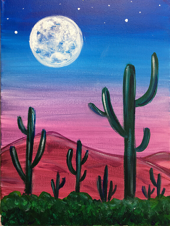Desert At Dusk Painting Party