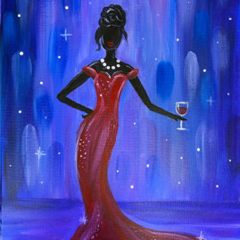 Pretty Woman Acrylic Painting