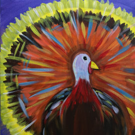 Turkey Day Acrylic Painting Class