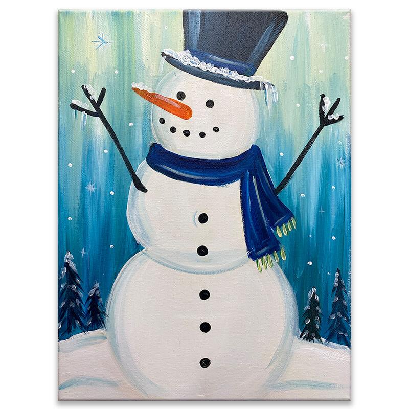 Arctic Snowman Virtual Painting Class