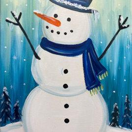 Arctic Snowman Painting Party
