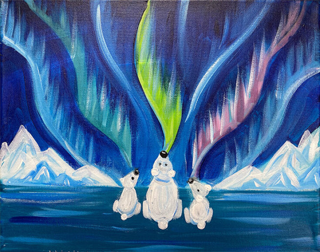 Arora Polar Bears Painting Party with The Paint Sesh