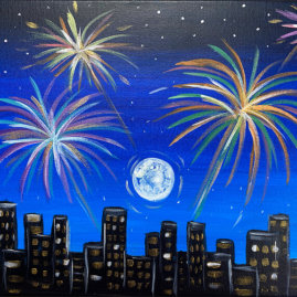 City Sparkles Acrylic Painting Class