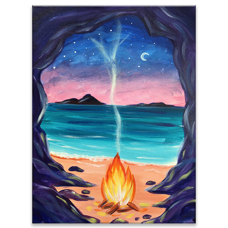 Beachside Fire Virtual Paint Night